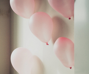 balloons, pink, and indie image
