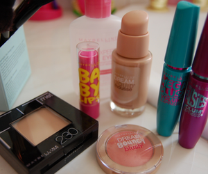 makeup, mascara, and Maybelline image