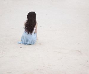girl, alone, and hair image