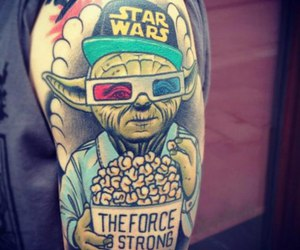 tattoo, star wars, and yoda image