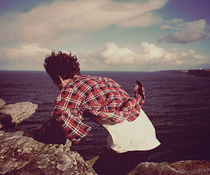 boy, photography, and sea image
