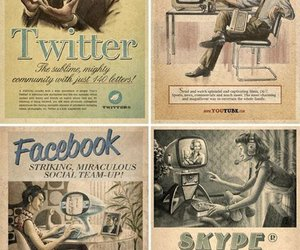 facebook, twitter, and skype image