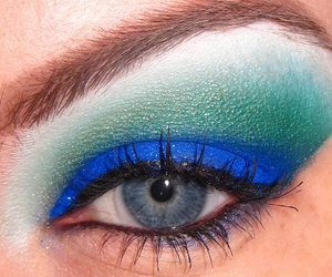 blue, eyeshadow, and green image