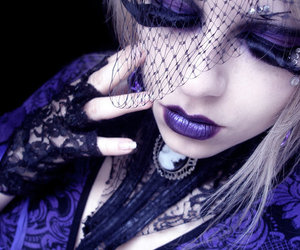gothic, make up, and purple image