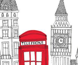 london, telephone, and england image