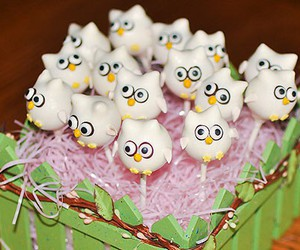 cake, cake pops, and owl image