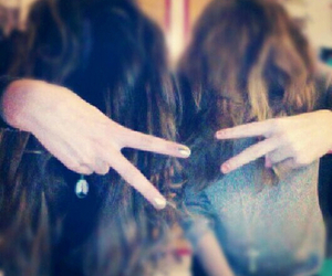 brownhair, girl, and peace image