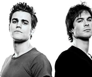 ian somerhalder, paul wesley, and damon salvatore image