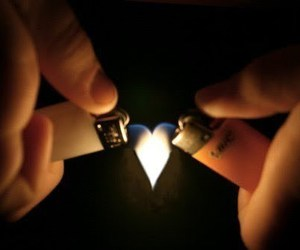 fire, heart, and love image