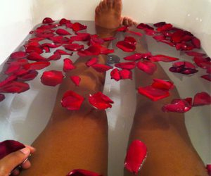 rose, bath, and legs image