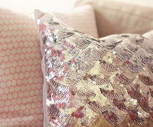 pillow, glitter, and home image