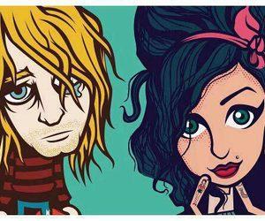 Amy Winehouse, kurt cobain, and nirvana image