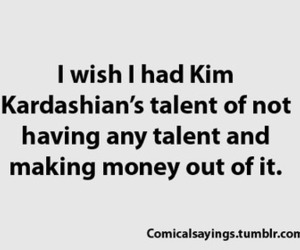 kim kardashian, funny, and money image