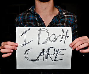 i don't care, boy, and text image