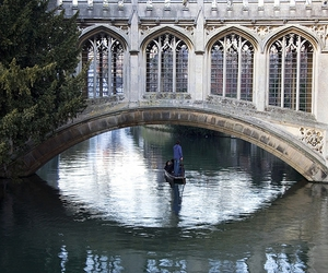 bridge, cambridge, and reflection image