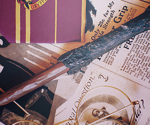gryffindor, harry potter, and wand image