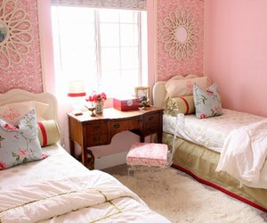 bedroom, pink, and girl image