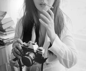 black and white, girl, and kodak image