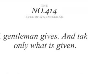gentleman and rules image