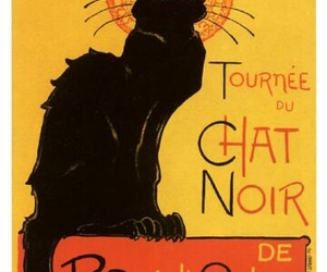 cat, Chat Noir, and french image
