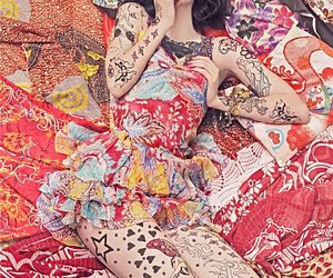 tattoo, vogue, and pattern image
