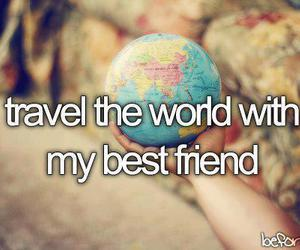 travel, best friends, and world image