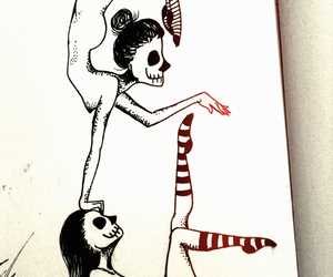 acrobats, skeleton, and drawing image