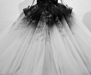 black and white, fashion, and dress image
