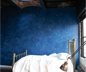bedroom, interior, and stars image