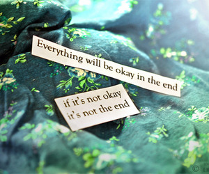 quote, green, and life image