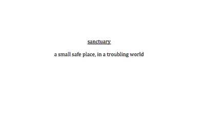 safe, sanctuary, and text image