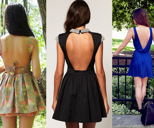 backless dress, clothes, and dresses image