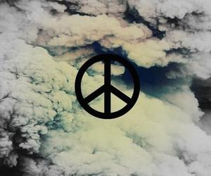 peace, clouds, and sky image