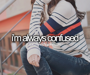 confused, quote, and me image