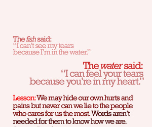 fish, tears, and heart image