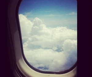 airplane, beautiful, and clouds image