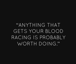 quote, blood, and words image