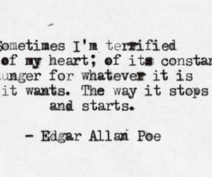 quotes, heart, and edgar allan poe image