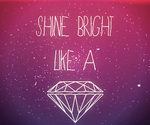 rihanna, diamonds, and shine bright image