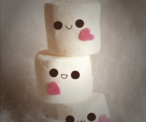 cute, marshmallow, and sweet image
