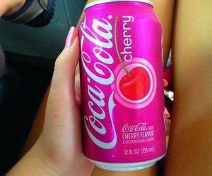 cherry, pink, and coca cola image