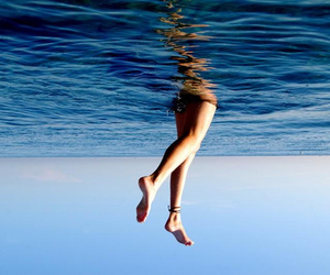 sea, water, and legs image