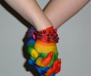 love, gay, and hands image