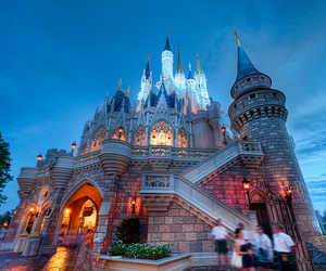 castle, disney, and photography image