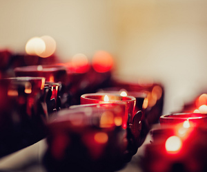red and candle image