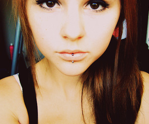 girl, piercing, and pretty image