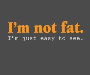 fat, funny, and quote image