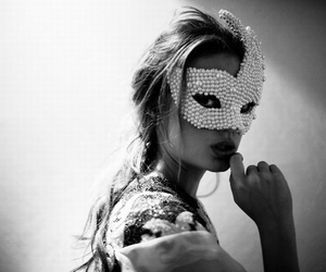 fashion, girl, and mask image