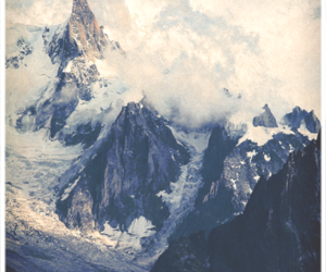 mountains, beautiful, and clouds image