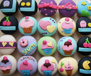 :3, cup cakes, and food image